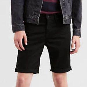 Levi's 511 Slim fit cut off denim shorts black W33